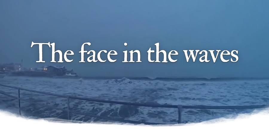 The face in the waves